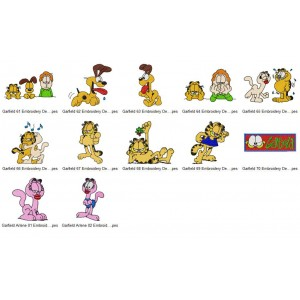 Garfield Embroidery Designs Collection 06