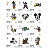Collection Mickey Mouse Embroidery Designs 03
