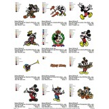 Collection Mickey Mouse Embroidery Designs 04
