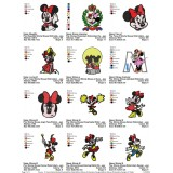 Collection Minnie Mouse Embroidery Designs 01