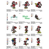 Collection Minnie Mouse Embroidery Designs 03
