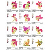 Collection My Little Pony Embroidery Designs 01