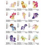 Collection My Little Pony Embroidery Designs 05
