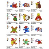 Collection Paddington Bear Embroidery Designs 02