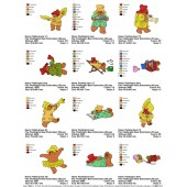 Collection Paddington Bear Embroidery Designs 05