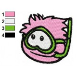 Pink Puffle Embroidery Design
