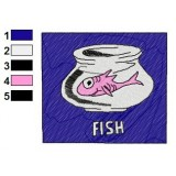 PinkFish Dr Seuss Embroidery Design