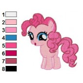 Pinkie Pie My Little Pony Embroidery Design 04