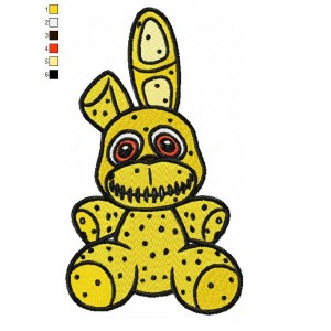 Plushtrap Five Nights at Freddy Embroidery Design