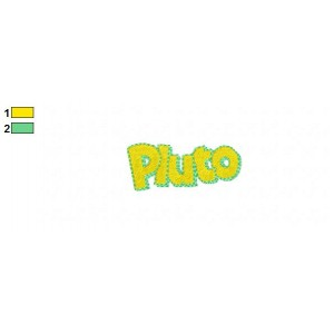 Pluto Name Embroidery Design