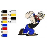 Popeye 01 Embroidery Design