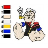 Popeye 06 Embroidery Design