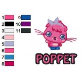 Poppet Moshi Monsters Logo Embroidery Design