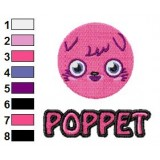 Poppet Moshi Monsters with Text Embroidery Design