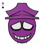 Purple Guy Five Nights at Freddys Embroidery Design