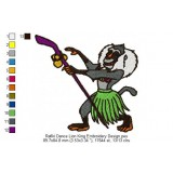 Rafiki Dance Lion King Embroidery Design