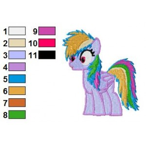 Rainbow Dash Embroidery Design