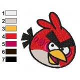 Red Bird Angry Birds Embroidery Design