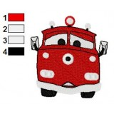 Red Firetruck Disney Cars Embroidery Design