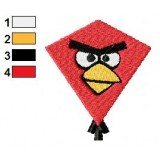 Red Kite Angry Birds Embroidery Design