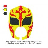 Rey Mysterio Mask Embroidery Design 02