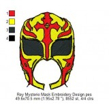 Rey Mysterio Mask Embroidery Design