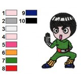 Rock Lee Shippuden Embroidery Design