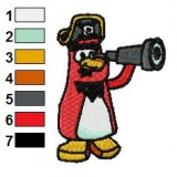 Rockhopper Watching by Laparoscopic Embroidery Design