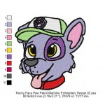 Rocky Face Paw Patrol Machine Embroidery Design 02
