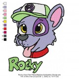 Rocky Face Paw Patrol Machine Embroidery Design