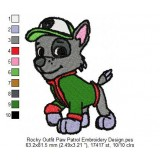Rocky Outfit Paw Patrol Embroidery Design