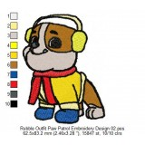Rubble Outfit Paw Patrol Embroidery Design 02