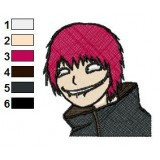 Sasori Shippuden Face Embroidery Design