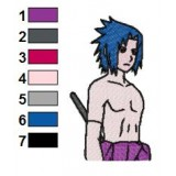 Sasuke Uchiha The Fighter Embroidery Design