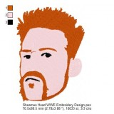 Sheamus Head WWE Embroidery Design