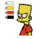 Simpsons Bart Embroidery Design 02