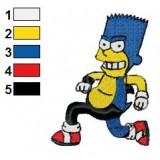 Simpsons Bart as Sonic Embroidery Design