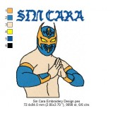 Sin Cara Embroidery Design