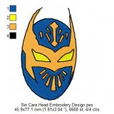 Sin Cara Head Embroidery Design