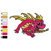 Skylander Spyro 08 Embroidery Design