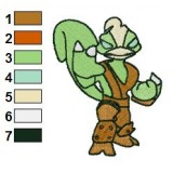 Skylanders Stink Bomb Embroidery Design