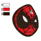 Spiderman Angry Face Embroidery Design