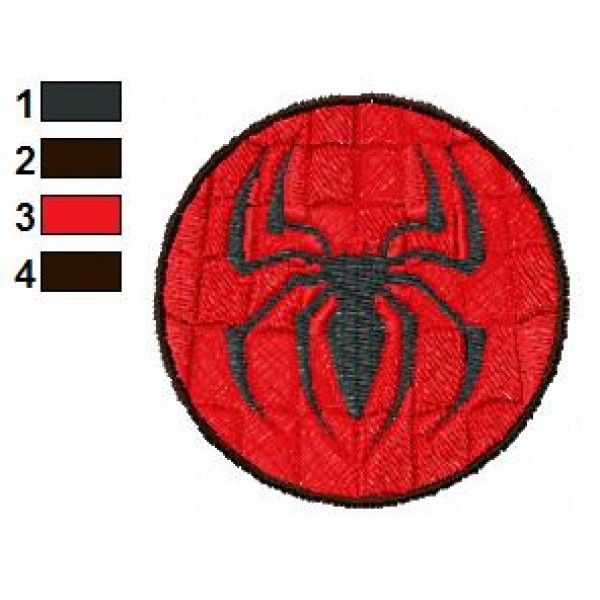 spider man logo embroidery design