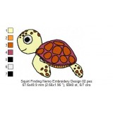 Squirt Finding Nemo Embroidery Design 02
