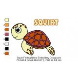 Squirt Finding Nemo Embroidery Design