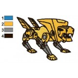 Steeljaw Transformers Embroidery Design