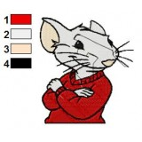 Stuart Little Embroidery Design 05