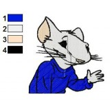 Stuart Little Embroidery Design 06