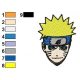 Sweet Face Naruto Uzumaki Embroidery Design