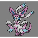 Sylveon Pokemon Embroidery Design